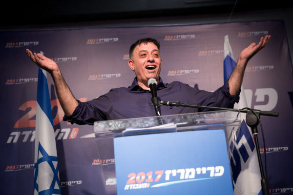 Newly elected Labour party leader Avi Gabay at the Labour party primaries headquarters in Tel Aviv on July 10, 2017. Photo by Miriam Alster/Flash90  *** Local Caption *** ????? ?????? ????? ???? ?????? ????? ????? ????? ??? ?????? ???? ????? ?????? ??? ????